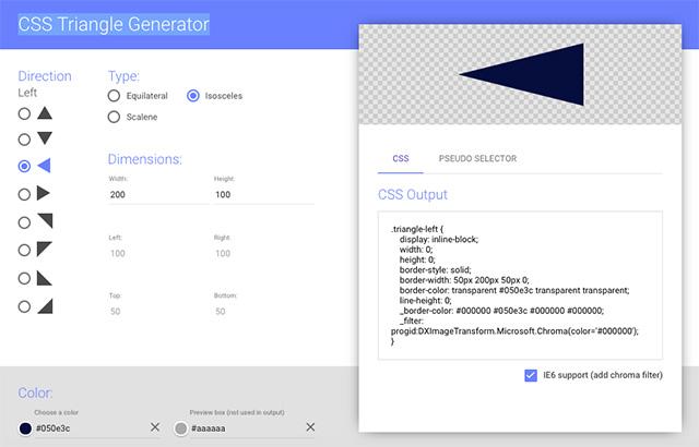 吹き出しにも最適!CSSで三角形が作れる自動生成ジェネレーター