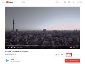 YouTube-共有をクリック