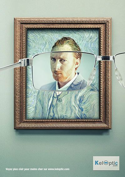 メガネの広告