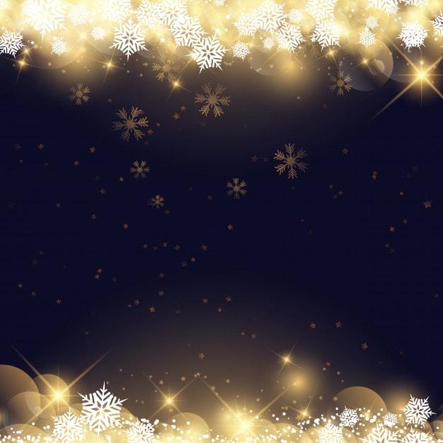 クリスマスの雪片と星(黒)