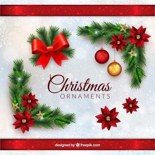 メリークリスマスと現実的なスタイルで装飾