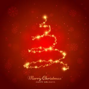 光沢のあるクリスマスツリー
