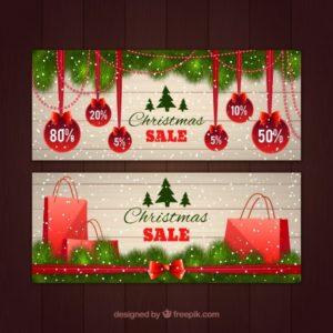 クリスマスセールのバナー