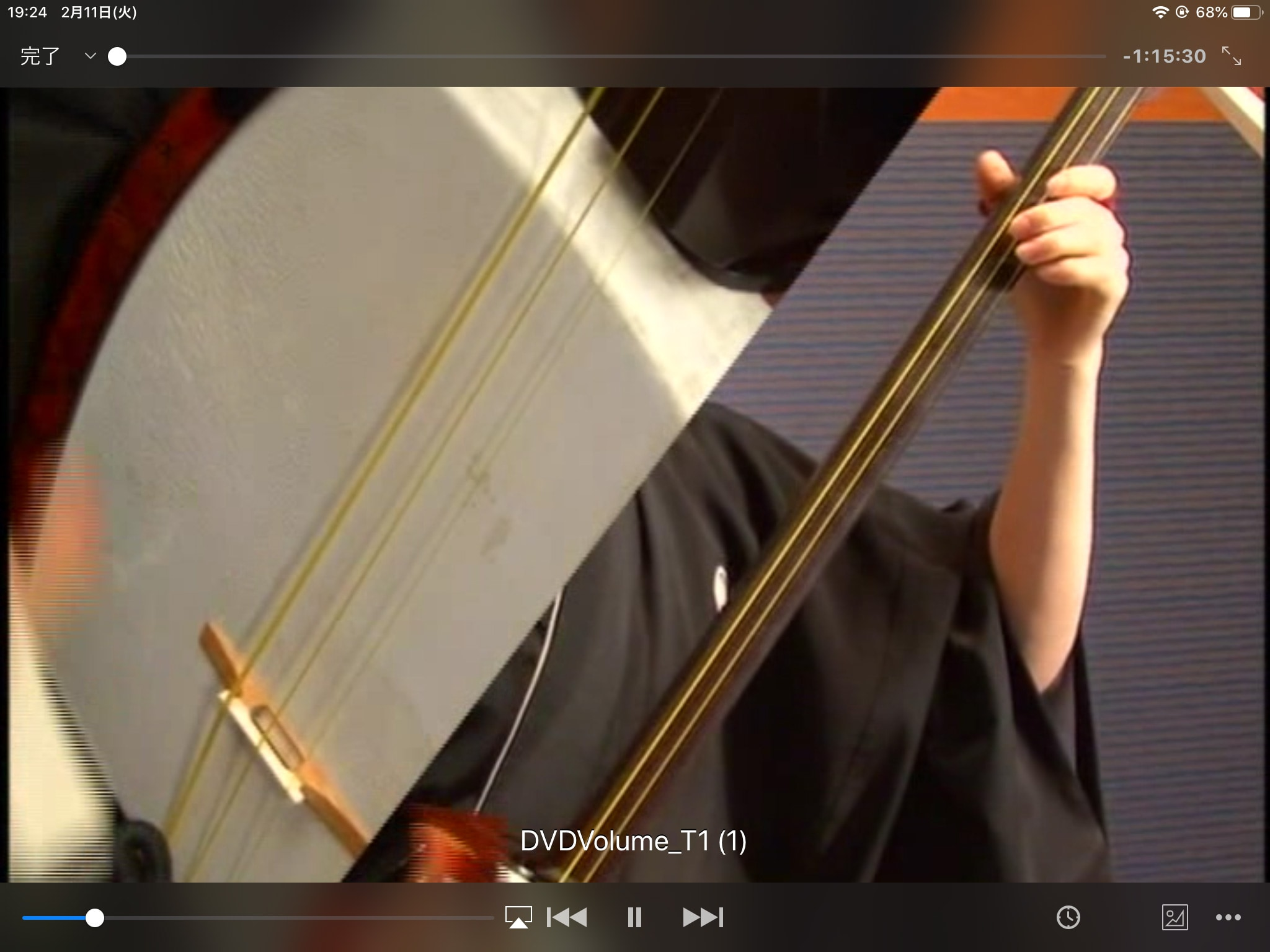 VLC mobile動画再生時画面